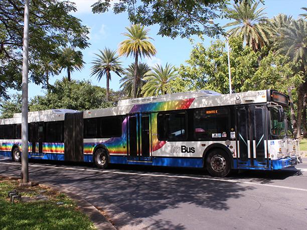 珍しい2両編成のバス