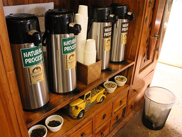 無料試飲ができるワイアルア産コーヒー