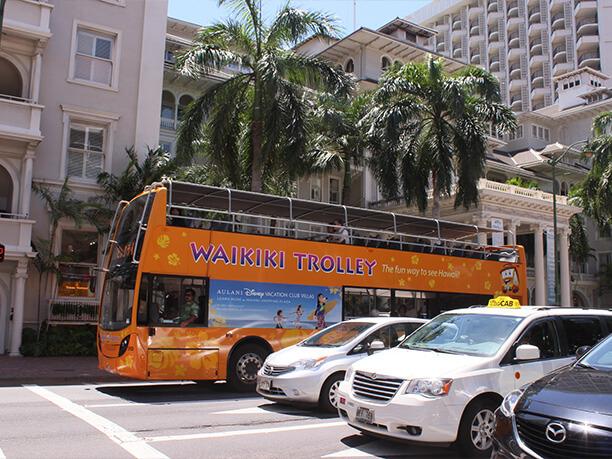 ハワイ・オアフ島の観光におすすめワイキキトロリーバス