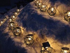 浮き玉の光