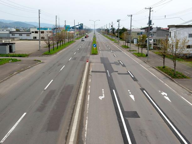 国道12号線の途中
