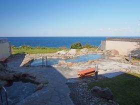 ハート型の露天風呂