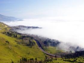 屈斜路湖を包む雲海