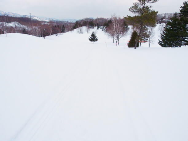 広がる雪山
