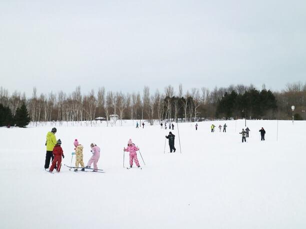 みんなでスキー