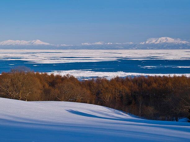 オホーツク海を望む