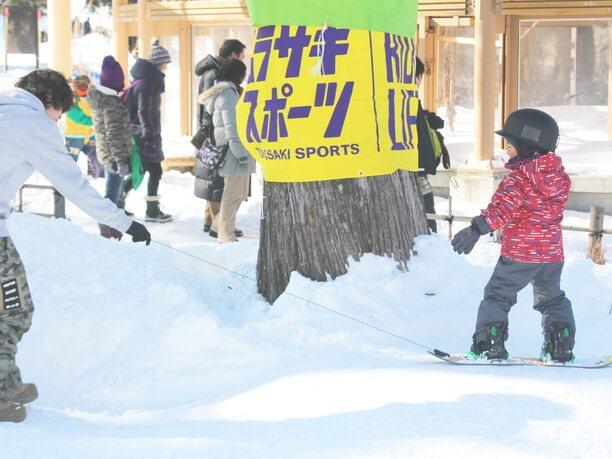 子ども向けにスノーボード体験