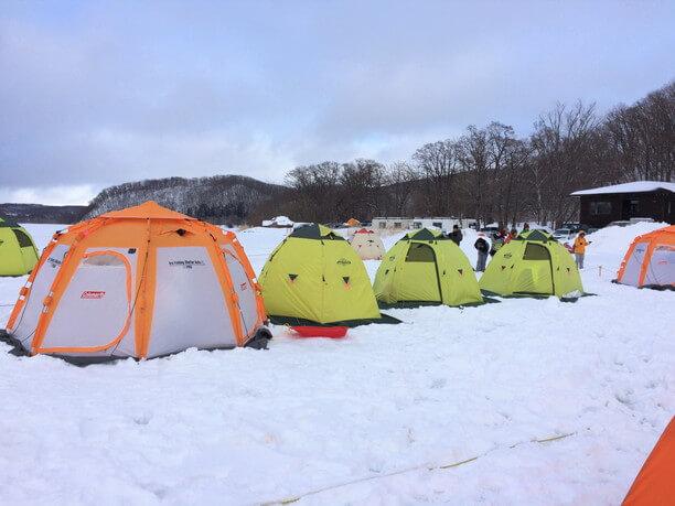 防寒用のテント