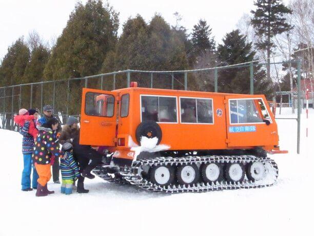 雪上車の体験乗車