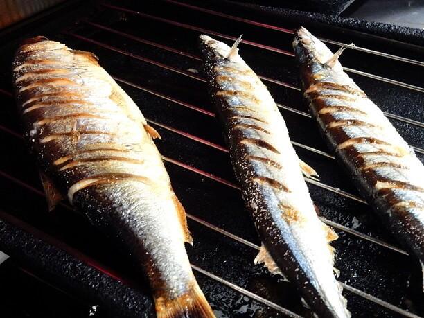 大きさに驚く焼き魚