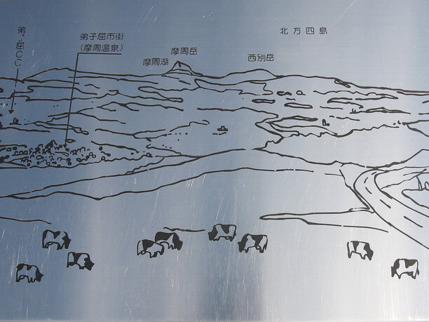 景観を示す案内板
