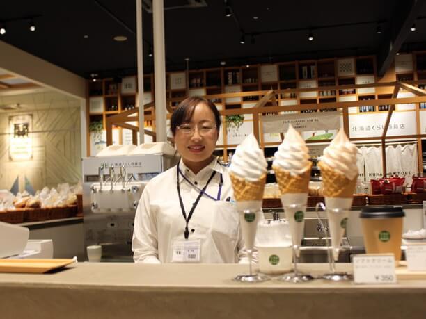 人気洋菓子店「ベイクド・アルル」のソフトクリーム