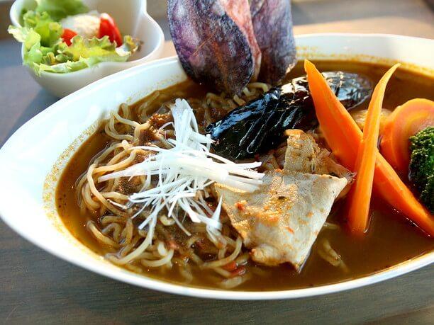 斜里産小麦を使った生麺「こはる」で作ったラーメン
