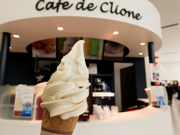 流氷館限定の流氷ソフトクリーム