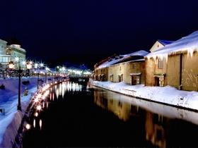 運河の夜景