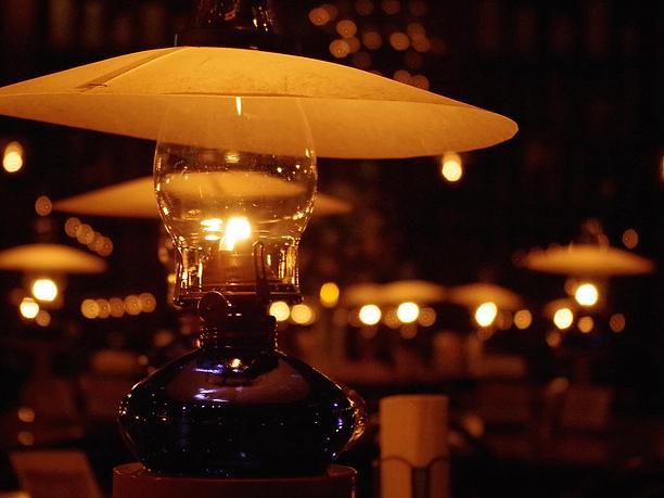 ランプの灯り