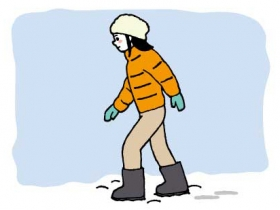 雪道を安全に歩くには