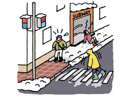 雪道の歩き方