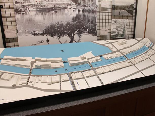 小樽運河の模型