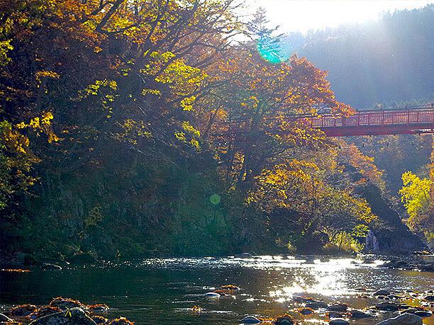 二見吊橋と景色