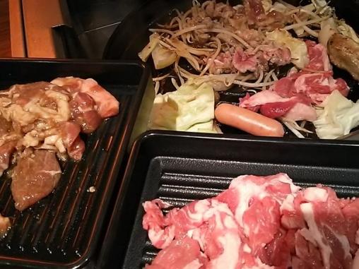 二大ジンギスカンと道産山わさびの三枚肉食べ放題