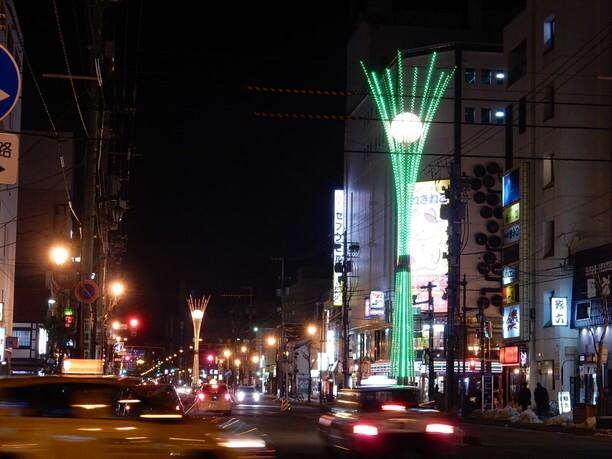 旭川の歓楽街・さんろく街