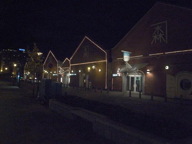 金森赤レンガ倉庫夜景