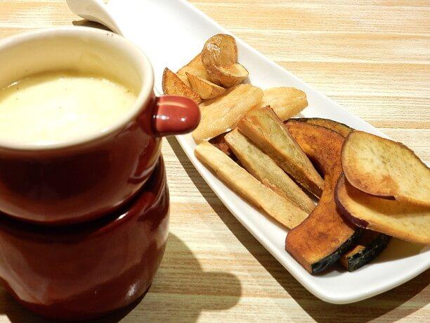 根菜野菜のチーズフォンデュ