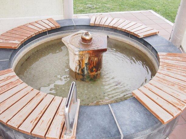 植物園の足湯