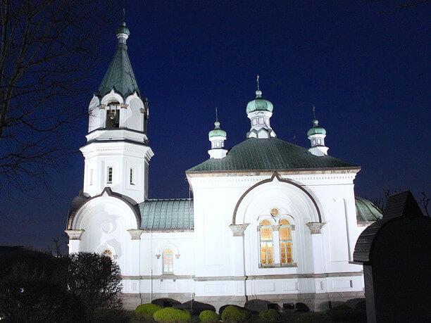 教会のライトアップ