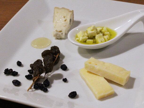 チーズのメニュー