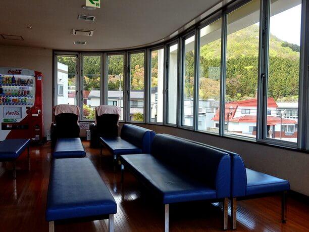 景色の良い休憩室