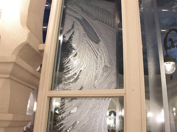 霜柱をイメージした彫刻