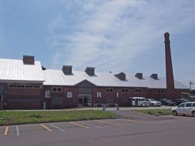 レンガ造りの工場跡