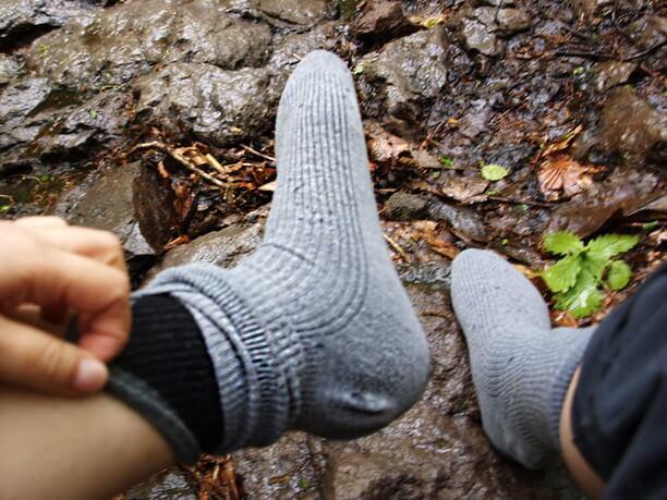 靴下2枚履き