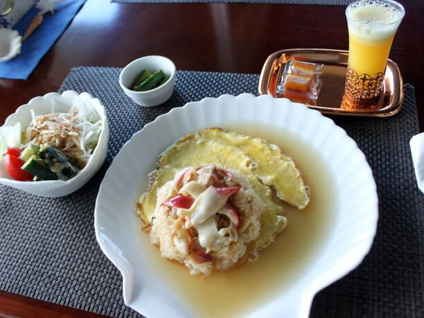 「大黒島と夕日」(サラダ・オレンジジュース付き)1,500円