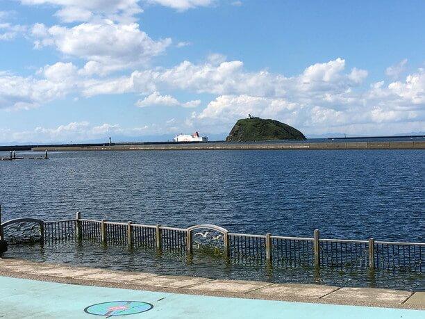祝津臨海公園から見た橋
