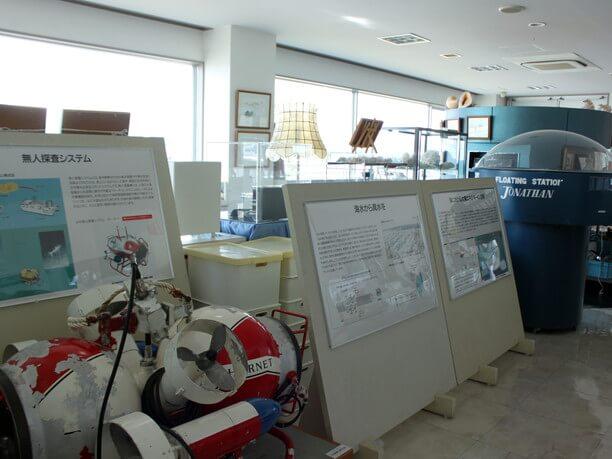 深海開発に関する展示