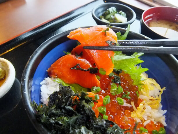 「ルイベの天然海苔丼(1,480円)」