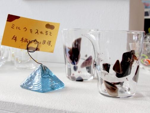 ユニークなガラス作品