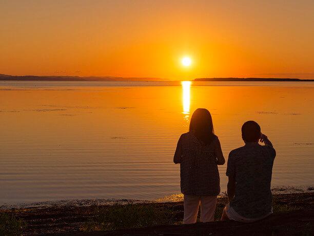 サロマ湖畔の絶景