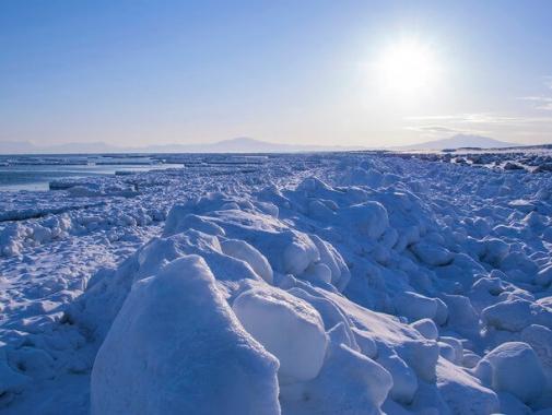冬のオホーツク海「流氷」