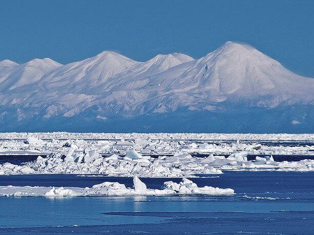 壮大なる大自然が広がる北海道のオホーツク海