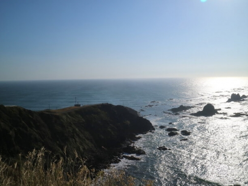 突き出た岬