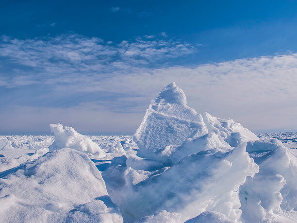 ひとかたまりの流氷
