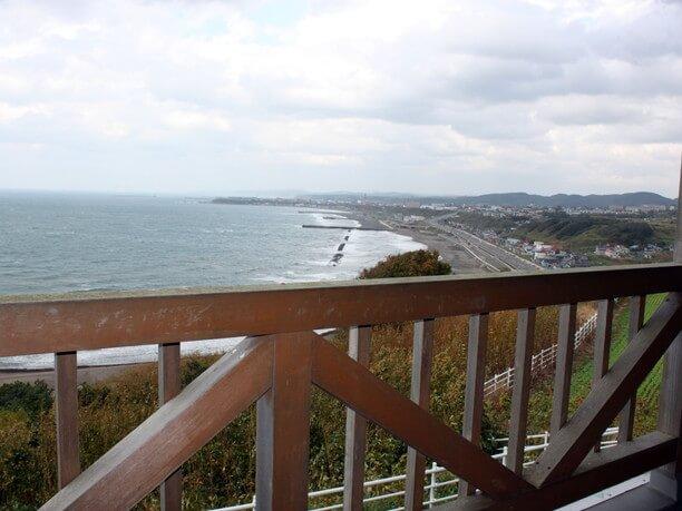 テラスやベランダから見える日本海の眺望