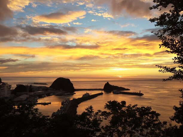 世界自然遺産・知床半島「夕陽台」サンセット風景