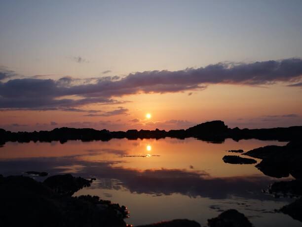 「日本の夕陽百選」に選出された絶景