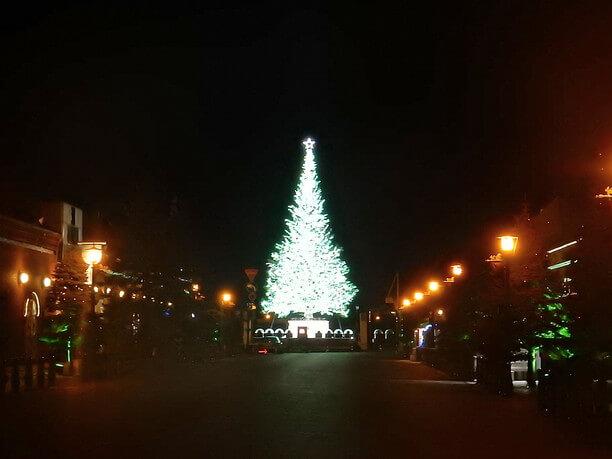 高さ約20mの巨大クリスマスツリー