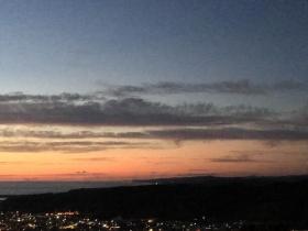 千望台の夕景